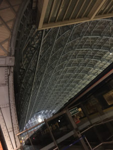 The roof of St Pancras
