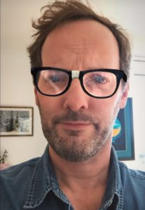 Photo (at Londonpodcast.net): Seamus O'Healey models some media-friendly specs