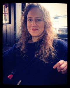 Artist Alice Finbow relaxing in the Mermaid pub in Clapton, east London